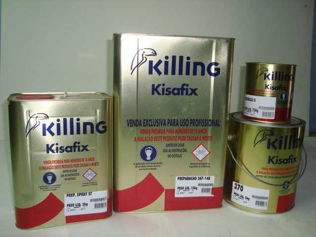 Colas de contato Kisafix - Além da cola de contato comum tem a linha para revólver (spray)